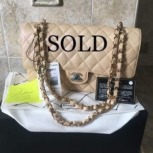Sold Out 19S Beige Iridescent Classic Medium GHW